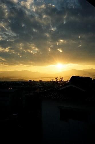 Sunset in Fukushima, Northern Japan