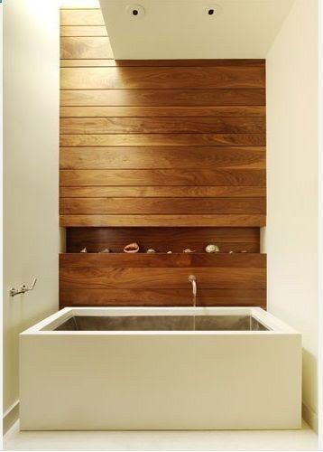 wood feature wall | Bathroom renovation ideas | Pinterest