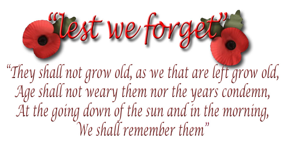 Remembrance Day November 11 Lest We Forget Wipware Fragmentation