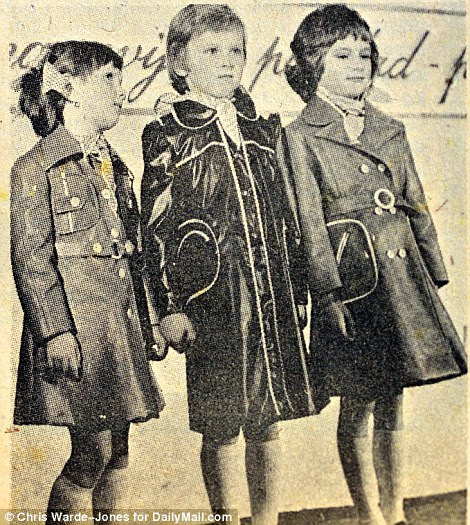 Treasured memories: Melania (right) and her friend Nena Bedek featured in a local newspaper (right) as taking part in a young fashion show.'Melania was transfixed by the idea of becoming a model and loved sketching designs for clothes,' Bedek tells Daily Mail Online