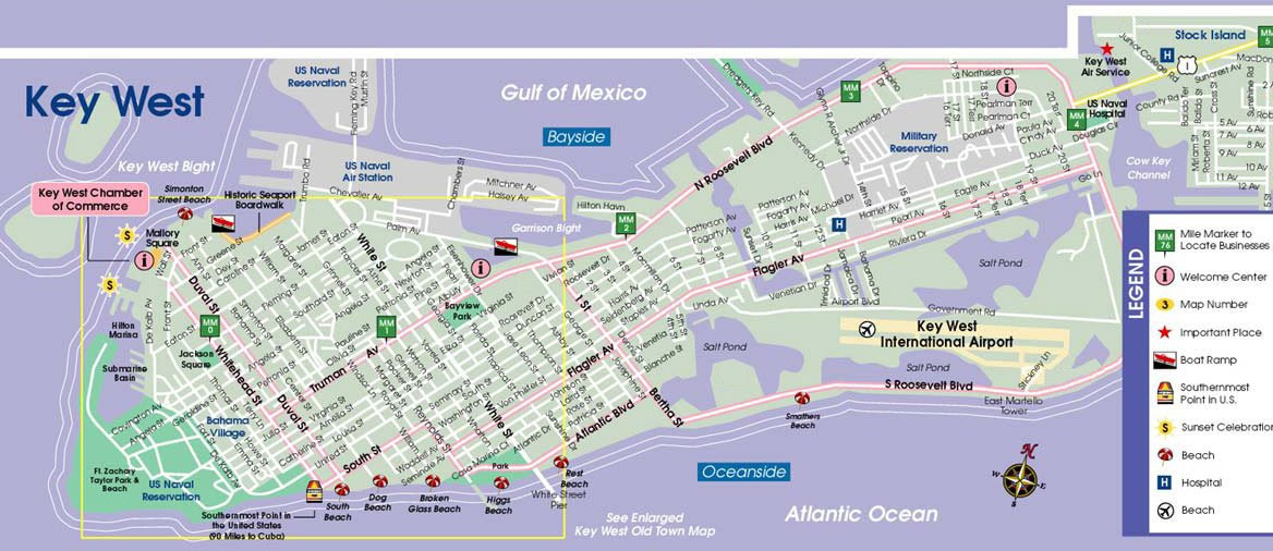 Key west fl map world map 07 email thisblogthis gumiabroncs Images