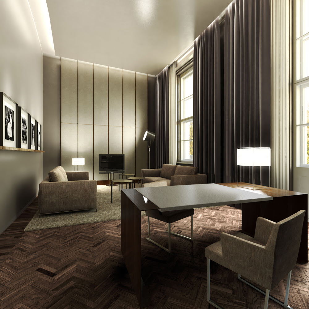 Architectural Rendering | 3D Interior design of a five-star Hotel