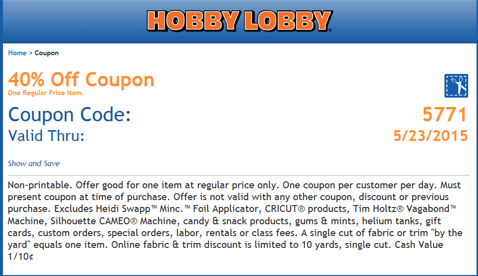Wwwhobby Lobby Printable Coupons | 2017 - 2018 Best Cars Reviews