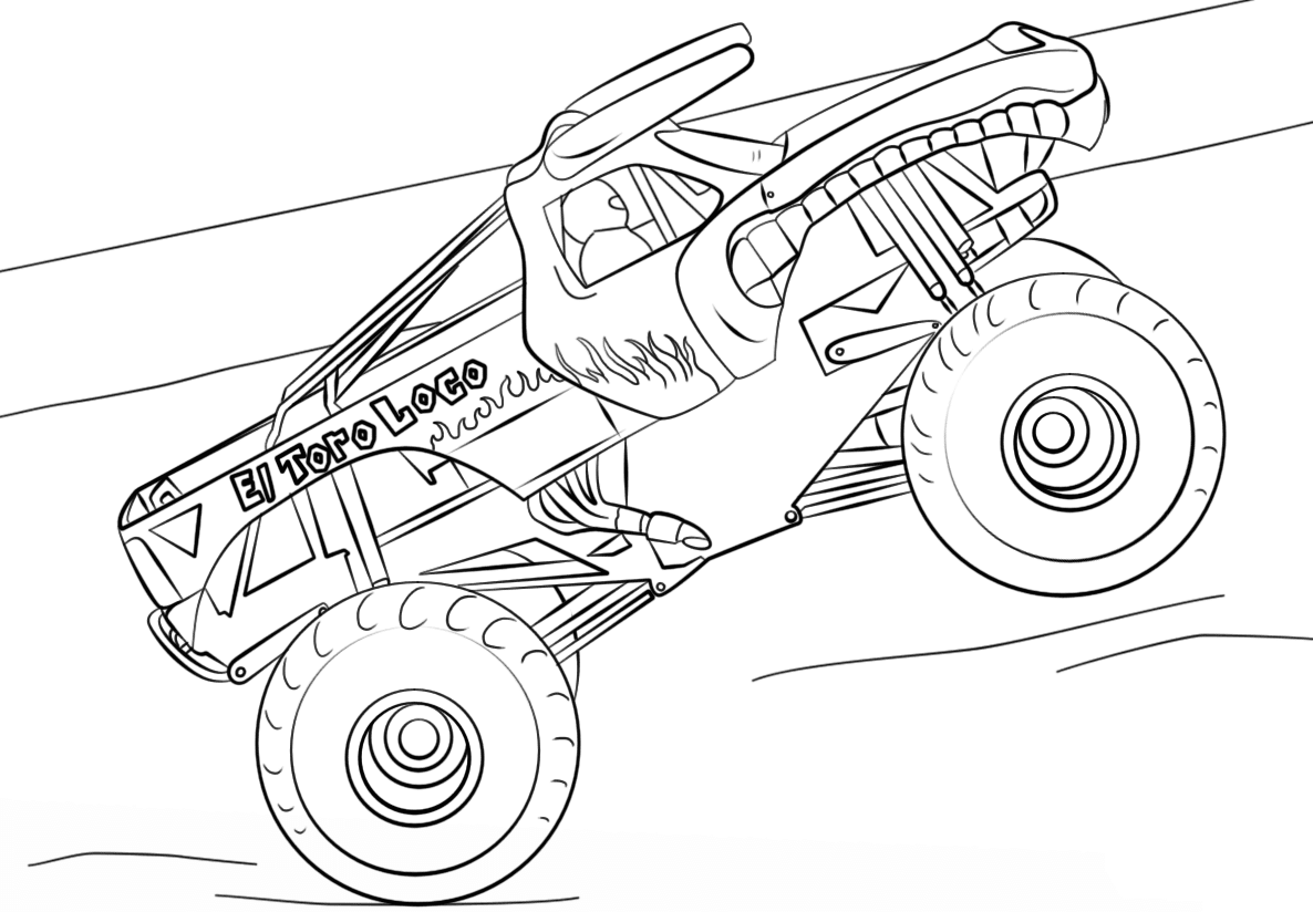 Monster Truck Hot Wheels 2 Coloring Page - Free Coloring ...