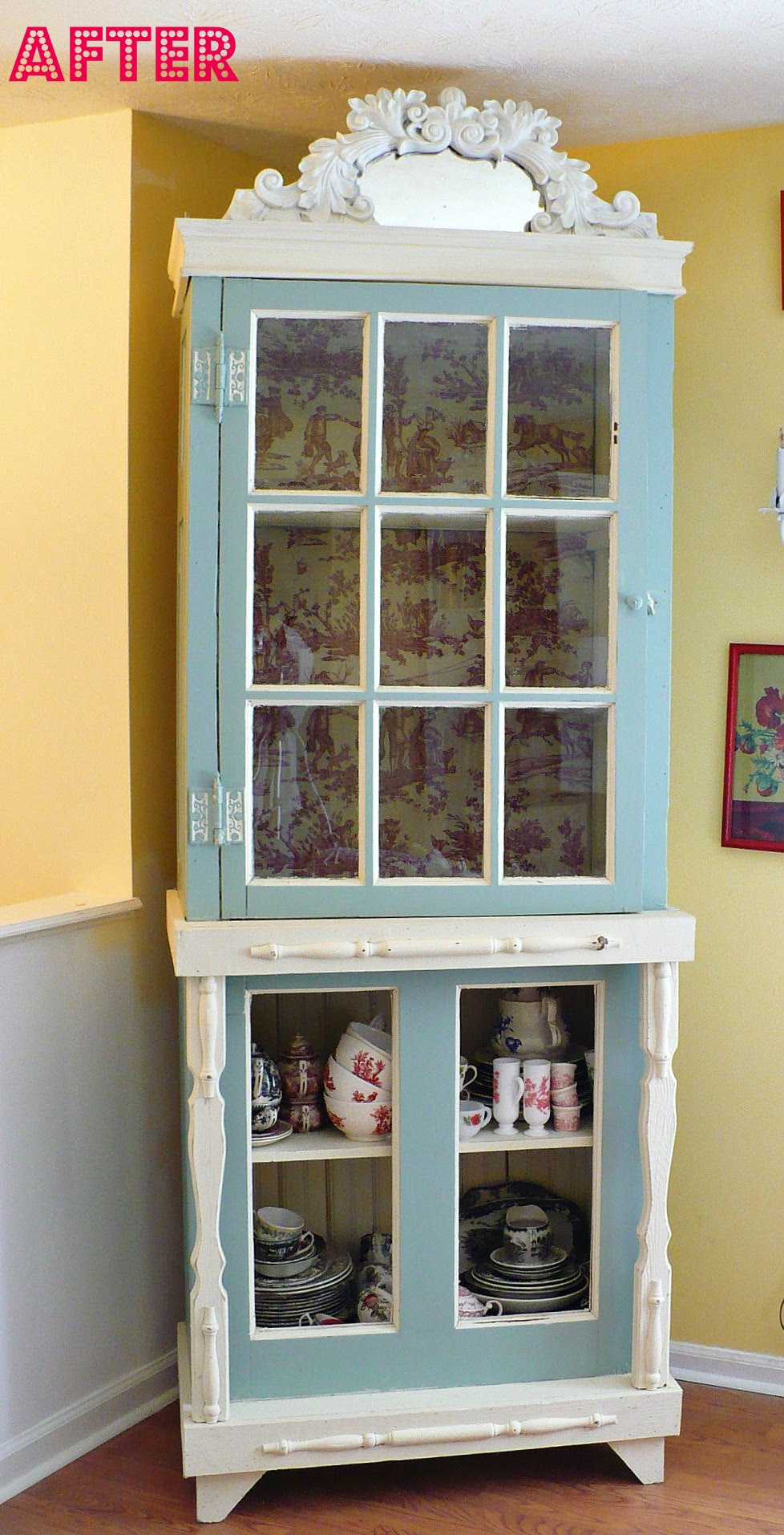 My China Cabinet Makeover - A Cultivated Nest