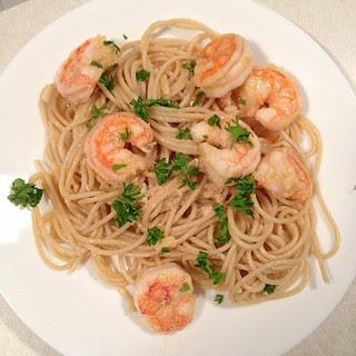 Cajun shrimp and noodles