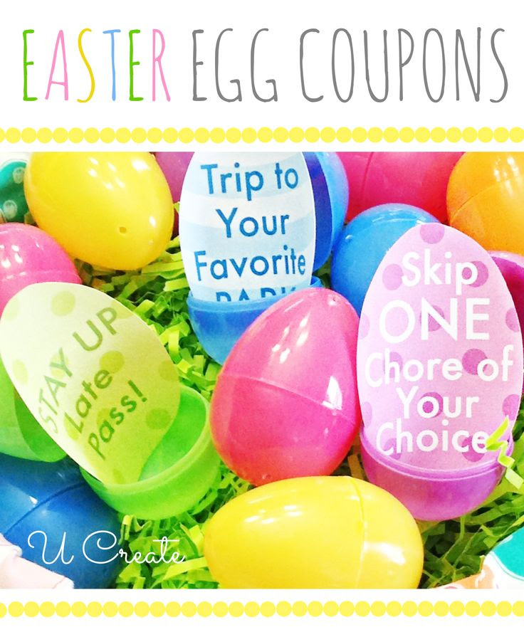 Easter Egg Coupons - Free Printable