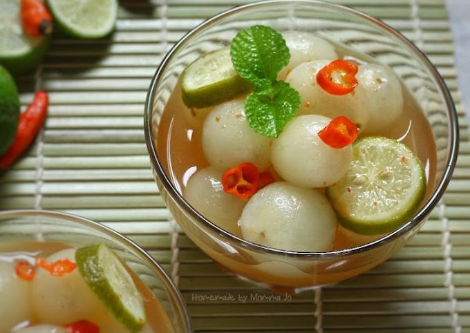 Resep Asinan Rambutan (dengan cuka beras) Anti Gagal