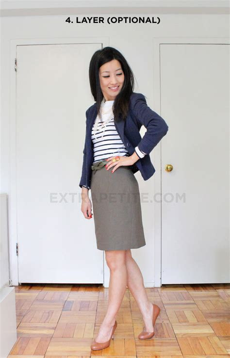 summertime business casual work outfit extra petite