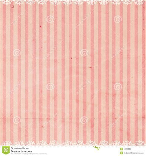 Pink Striped Background With Lace Trim Royalty Free Stock