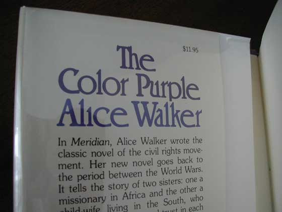 First Edition Points To Identify The Color Purple By Alice Walker