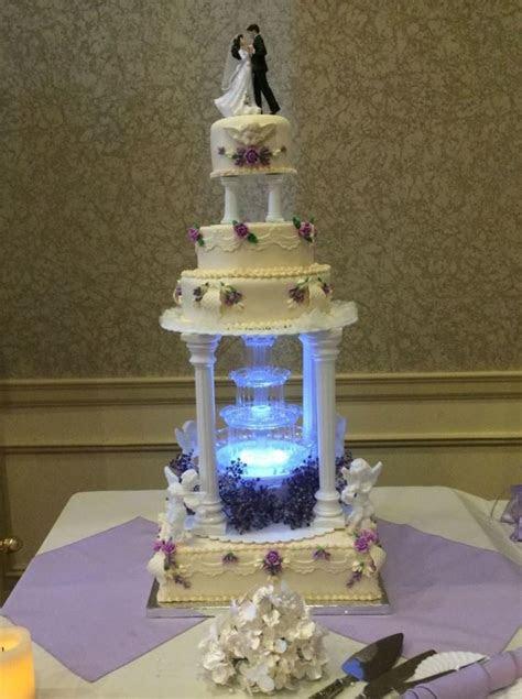 moonlit fountain wedding cake cakecentralcom