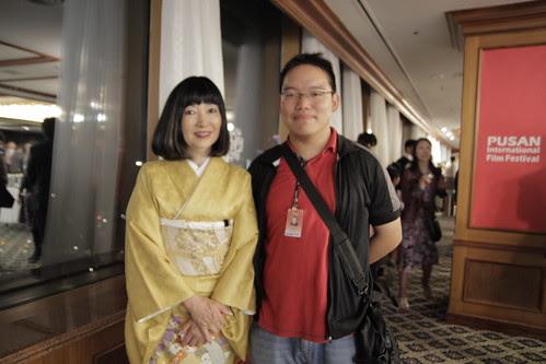 With Former First Lady of Japan, Miyuki Hatoyama