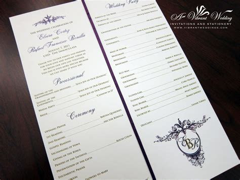 Ceremony Programs ? A Vibrant Wedding