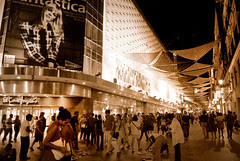 Madrid centro de noche
