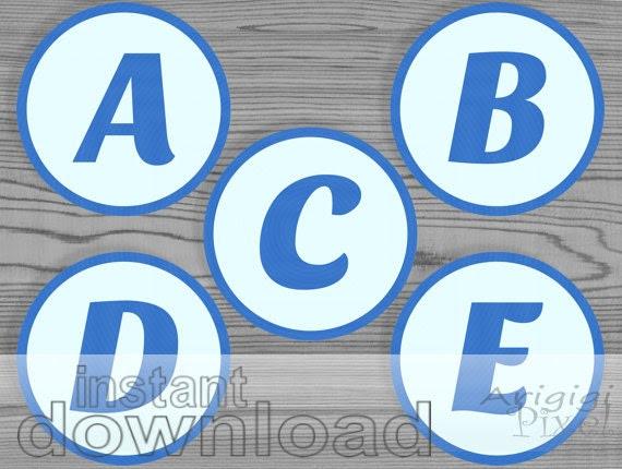 blue alphabet letter number circles printable by ArigigiPixel
