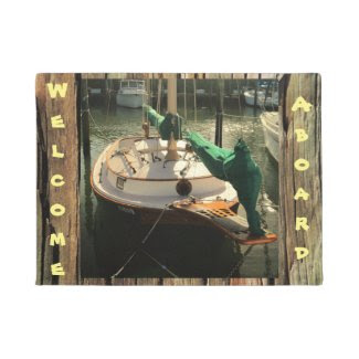 Make Your Own Custom Boating Rustic Wood DoorMat