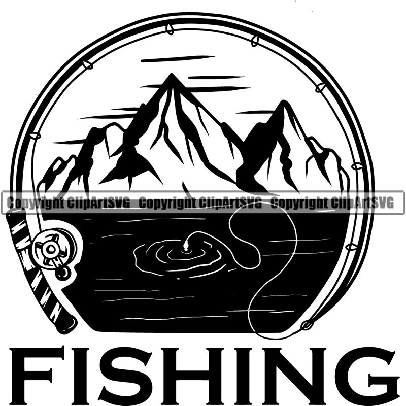 Download Sports Game Fishing Tours Mountains Fish Hunt Fish Logo Clipart Svg Clipart Svg