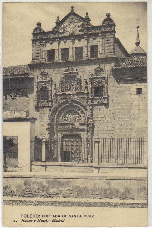 Museo de Santa Cruz a comienzos del siglo XX. Foto Hauser y Menet