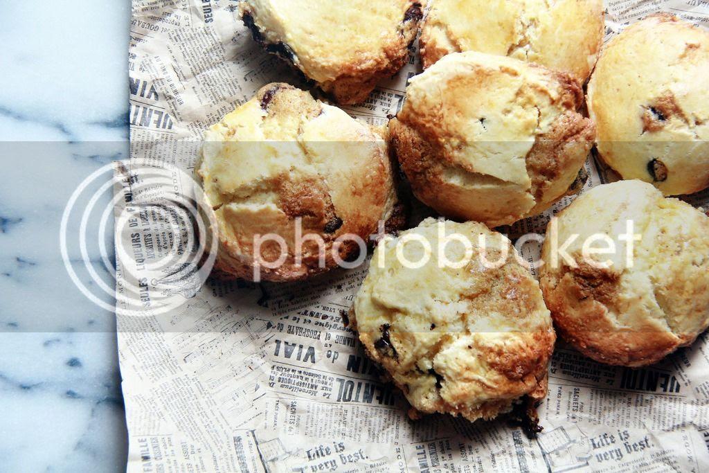 breakfast / afternoon tea - chocolate chip cookie dough scones