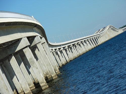 Graceful flowing curves on the Bay St. Louis bridge