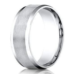 Designer Men's Wedding Ring in 950 Platinum with Beveled