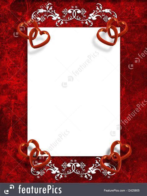 Illustration Of Valentines Day Hearts Border