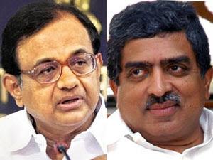 P Chidambaram and Nandan Nilekani