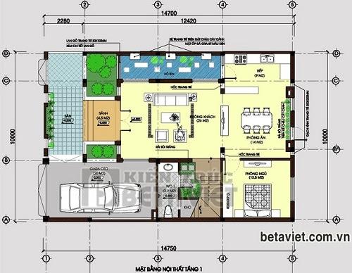 Tư vấn thiết kế biệt thự 3 tầng sang trọng, DT 10x14,7m   ảnh 2