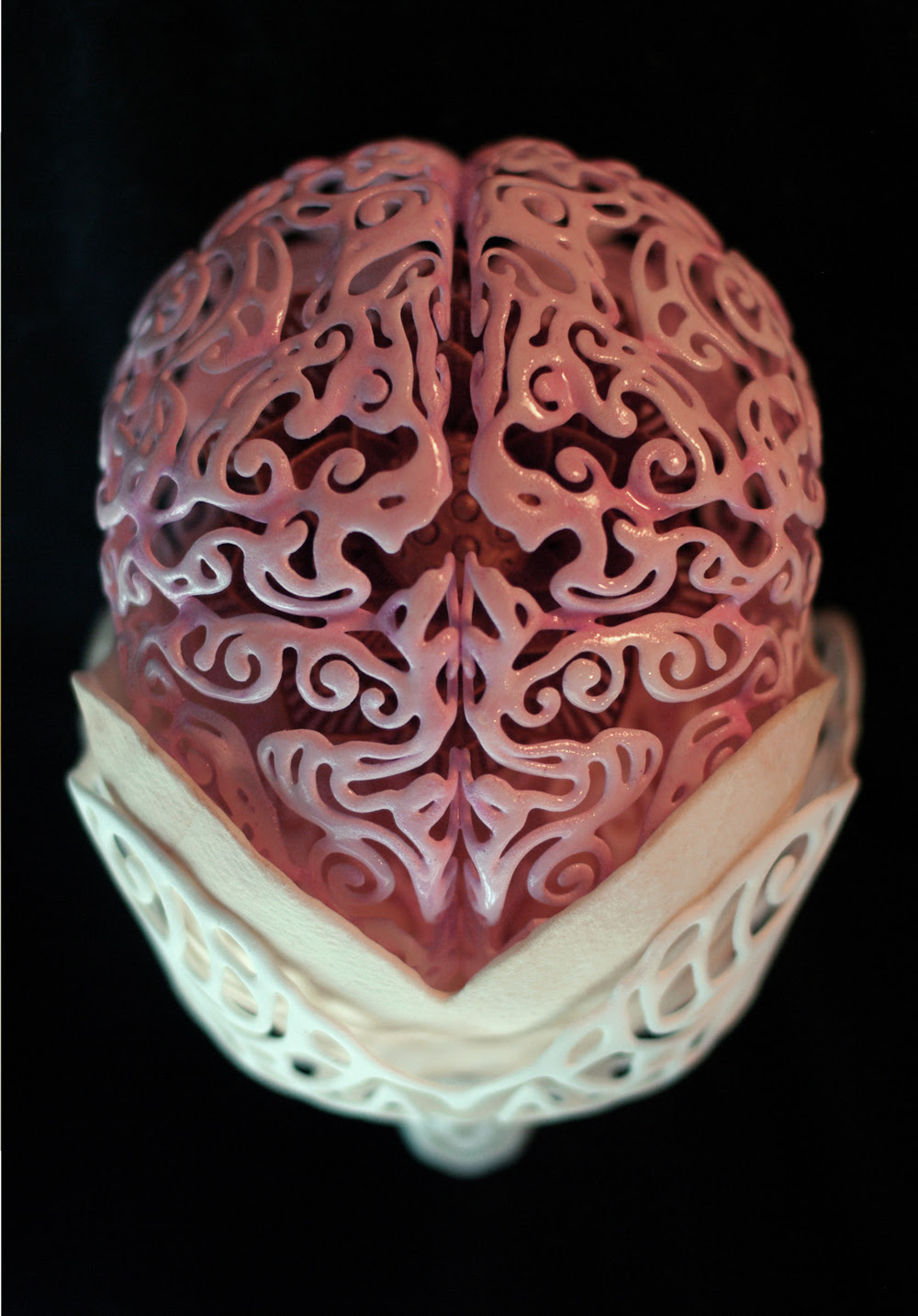 Anatomical 3D Self Portrait by Joshua Harker sculpture portraits anatomy
