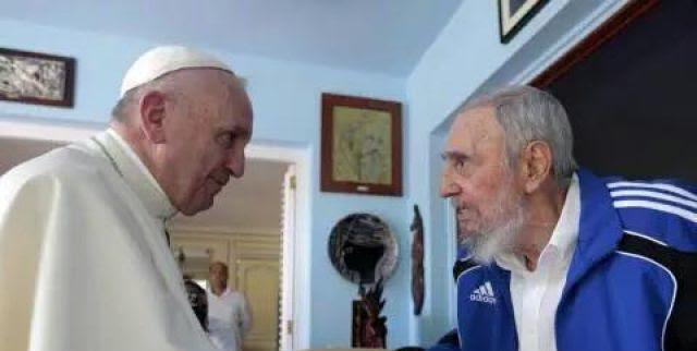 Papa Francisco con Fidel Castro