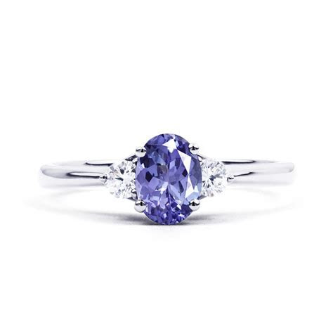 Paragon 18ct White Gold Tanzanite and Diamond Engagement