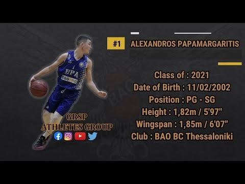 """Αλέξανδρος Παπαμαργαρίτης : Αξιόπιστος Guard  με χέρι """"αλφάδι"""""""