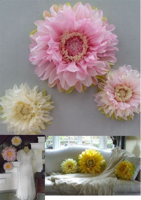 First Birthday Decorations   Set of 3 Giant Paper Flowers