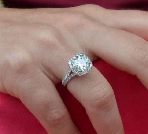 3.5 carat diamond ring on finger   jewels!   Pinterest