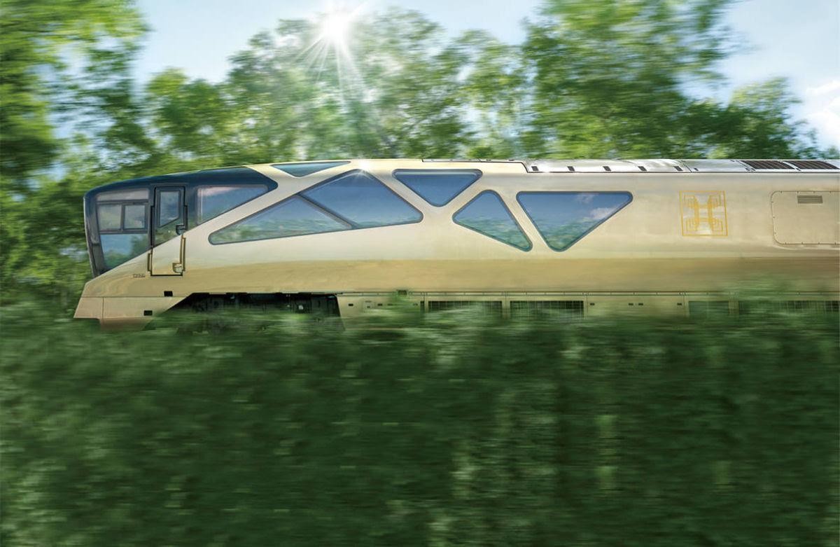 O interior do Shiki-shima: o trem mais luxuoso do mundo que atravessa o Japão 02