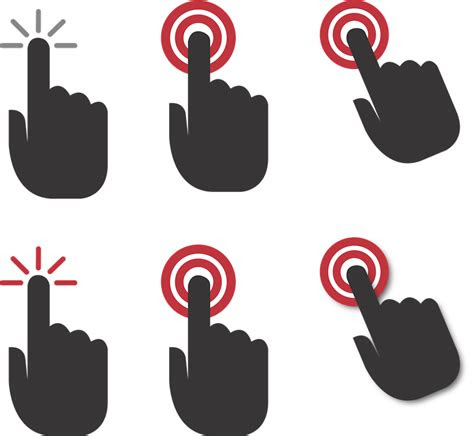tangan klik   gambar vektor gratis  pixabay