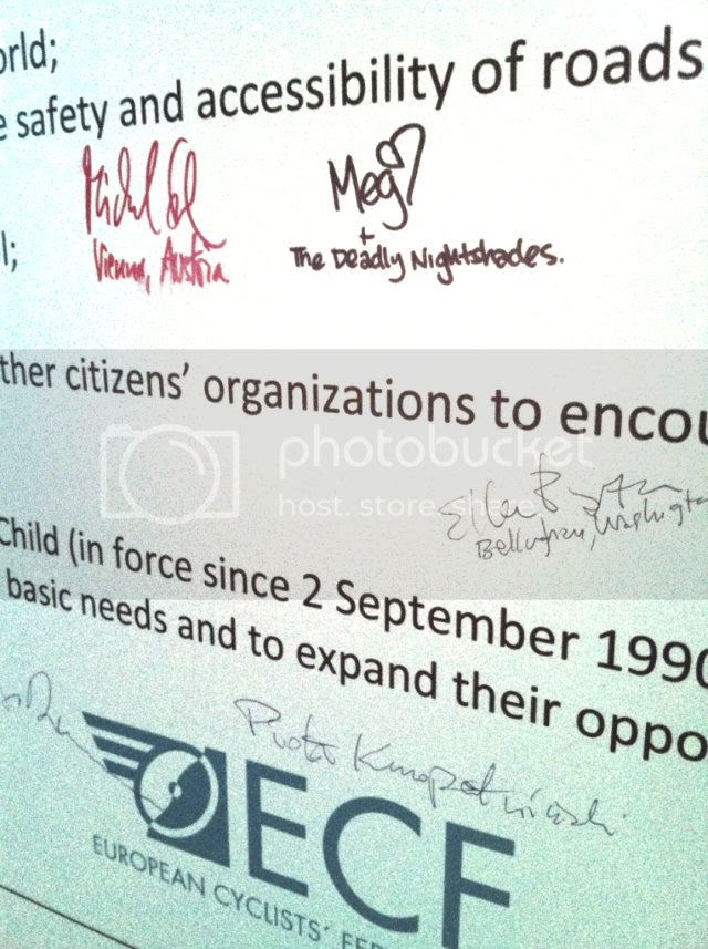 RightToCycle, Velo-City 2012, Vancouver, Cycling, Children, Charter of Vancouver,