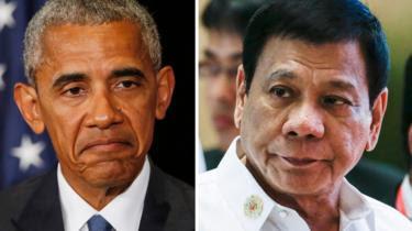Hai tổng thống Barack Obama và Rodrigo Duterte