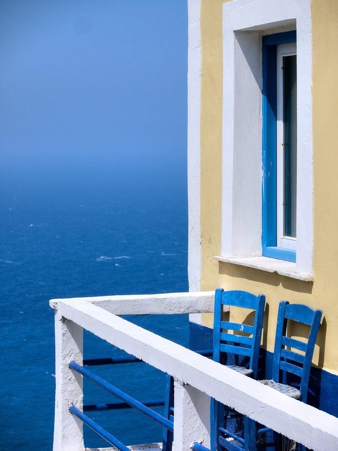 A balcony with a view, Karpathos island.