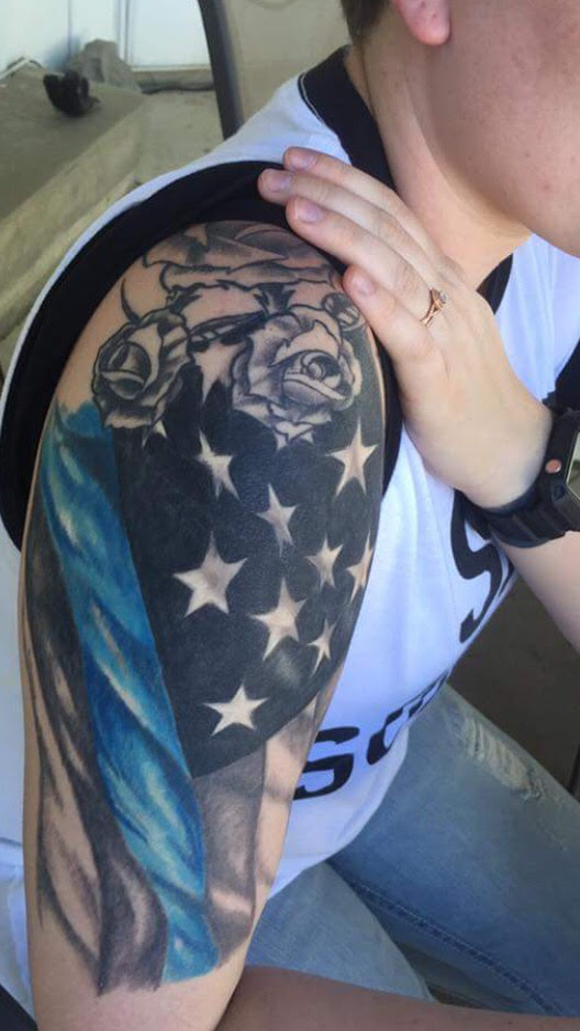 Thin Red Line American Flag Tattoo Best Picture Of Flag Imagescoorg