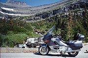 BMW K1200LT at Glacier National Park