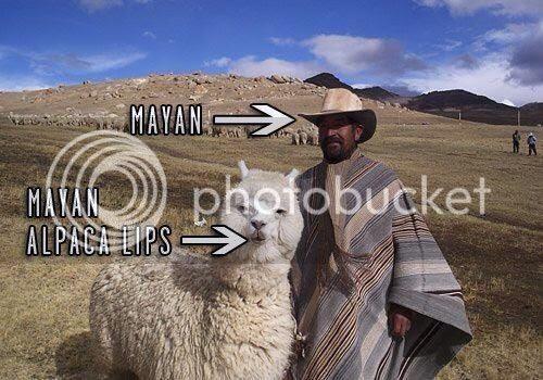 Mayan Alpaca Lips