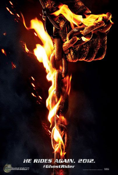 The theatrical poster for GHOST RIDER: SPIRIT OF VENGEANCE.