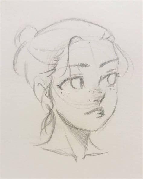croquisdujour manga portrait doodle drawings pencil