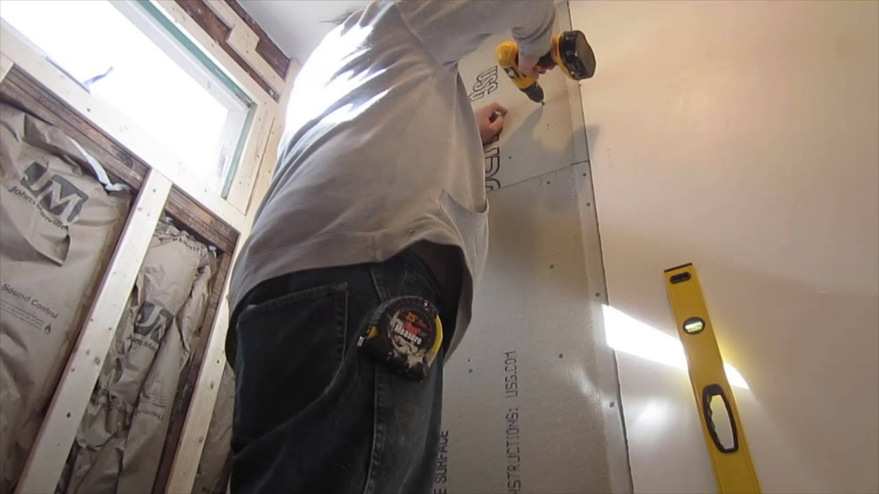 How to cut and install cement board for ceramic wall tile ...