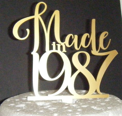 Made in Cake Topper