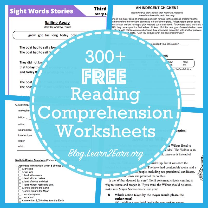 20 Websites For Free Reading Comprehension Worksheets