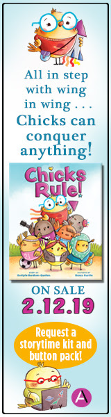Request your 'Chicks Rule' storytime kit and button pack!