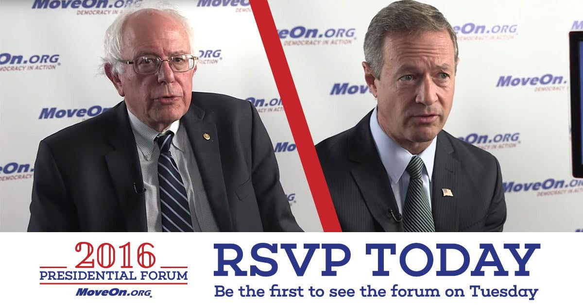 MoveOn.org 2016 Presidential Forum—Senator Bernie Sanders answering question about the role of grassroots progressives   today